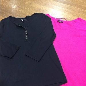 Tops - LOT OF 2 SZ M LADIES SHIRTS-TOPS FROM KOHLS